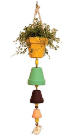 Clay Pots Windchime – Kreativ – Home crafts Flower Pot Art, Flower Pot Crafts, Flower Pots, Flower Pot People, Clay Pot People, Clay Pot Projects, Clay Pot Crafts, Ceramic Pots, Terracotta Pots
