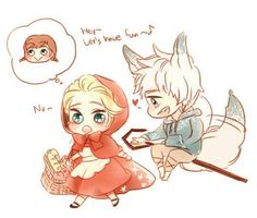 Red Riding Hood and Wolf. So cute version! Good work by the author.