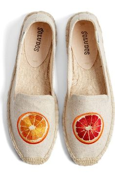 Soludos 'Oranges' Embroidered Espadrille Slip-On (Women) available at #Nordstrom