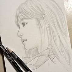 Learn To Draw A Realistic Rose - Drawing On Demand Kpop Drawings, Pencil Art Drawings, Realistic Drawings, Pink Drawing, Manga Drawing, Drawing Sketches, Face Sketch, Girl Sketch, Blackpink Lisa