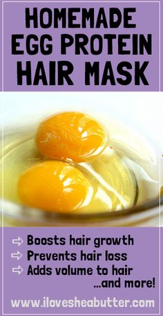 You totally need to do this homemade egg protein treatment if your hair is weak and falling out often! I love my weekly hair growth masks and they're one of my best kept secrets for luscious hair! masks for hair growth Hair Mask For Growth, Hair Growth Treatment, Natural Hair Growth, Hair Breakage Treatment, Egg Hair Treatments, Mayonnaise Hair Treatments, Hair Growth Mask Diy, Homemade Hair Treatments, Kinky Hair