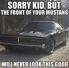 I love me some mustangs.... but theres a space in my heart for the only good generation of charger