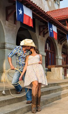 A Texas cowboy and his cowgirl!