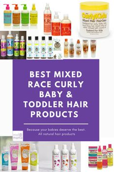Best mixed race curly baby & toddler hair products - My best baby product list Toddler Curly Hair, Curly Hair Baby, Curly Kids, Baby Girl Hair, Wavy Hair, Long Hair, Kinky Hair, Mixed Kids Hairstyles, Short Shag Hairstyles