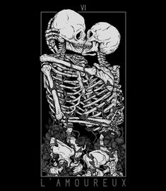 "lesstalkmoreillustration: "" The Lovers Art Print By Deniart *More Things & Stuff "" Wallpaper Collage, Skull Wallpaper, Wall Collage, Funny Iphone Wallpaper, Wallpaper Backgrounds, Skeleton Art, Skeleton Love, Skeleton Tattoos, Leg Tattoos"