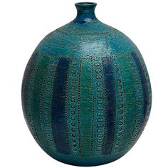 A Bitossi Rimini Blue Vase Designed by Aldo Londi   From a unique collection of antique and modern vases at http://www.1stdibs.com/furniture/more-furniture-collectibles/vases/