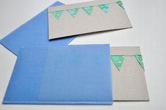 Leuke combinatie van papier en garen! Ook de  kleurencombinatie is zeer geslaagd!