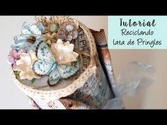 Un tuto para alterar un bote de patatas pringles y convertirlo en un bonito elemento de decoración o un regalo improvisado. Inspirado en Pinterest. Está real...