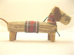 Doxie Handmade Cork Christmas Ornament #2 to benefit Midwest Dachshund Rescue in Collectibles, Animals, Dogs   eBay