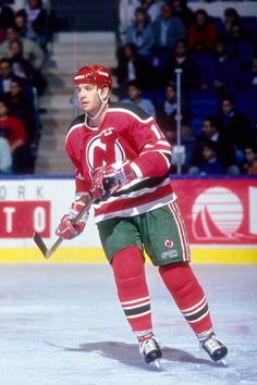 Brendan Shanahan of the New Jersey Devils skates on the ice during an NHL game against the New York Islanders on December 11 1990 at the Nassau...