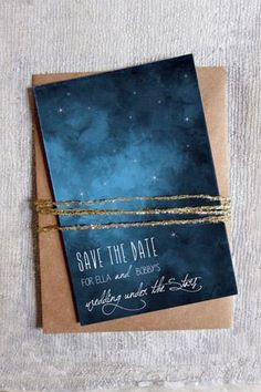 For starry eyed couples! Constellation wedding invitation - brides of adelaide