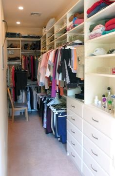 Delicieux Narrow Closet   Right Side U0026amp; Back...messy Long Narrow Closet,