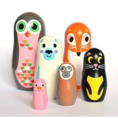 Animal nesting dolls, matryoshka or Russian dolls by Ingela P Arrhenius for Omm Design. Perefct newborn baby gift, Christening gift and kids room decoration Deco Kids, Buy Gifts Online, Gifts Australia, Matryoshka Doll, Baby Kind, Kids Playing, Gifts For Kids, Kids Presents, Kids Toys