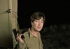 """John on the set of """"How I Won the War."""" Given how he died, it's very unsettling to see him fire a gun. The Beatles 1, Beatles Art, John Lennon Beatles, Liverpool, Rubber Soul, The Fab Four, Saddest Songs, Ringo Starr, I Win"""