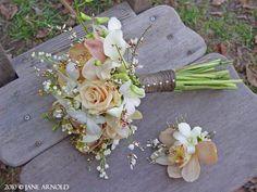 Auberge du Soleil Calistoga wedding flowers (bride bouquet roses and orchids) Sebastopol Florist - Sonoma County Wedding Flowers