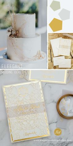 This invitation is a timeless creation…from the Ivory Laser Cut Wrapped to the Printed Translucent Belly Band to the classically styled invitation with Gold Mirror Backer, this invitation is sure to stun your guests. It's perfect for all seasons and for weddings with an upscale flair. Wedding Inspiration, Wedding Ideas, Successful Marriage, Wedding Gifts For Bridesmaids, Laser Cut Wedding Invitations, Free Prints, Wedding Details, Rustic Wedding, Stationery
