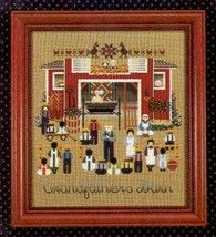 Grandfather's Barn amish cross stitch chart Told In A Garden - $9.00