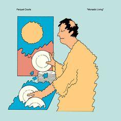 Risultati immagini per Parquet Courts – Monastic Living (EP) Pochette Photo, Pochette Album, Tame Impala, Rough Trade Records, New Wave, Graphic Design Inspiration, Album Covers, Design Art, Design Ideas