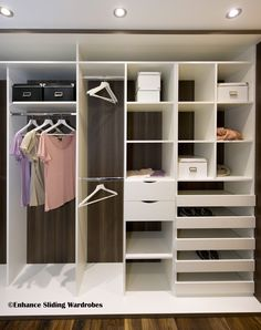 Walk-in Wardrobe / Closet #wardrobe #storage // Designed by Enhance Sliding Wardrobes www.enhanceslidingwardrobes.com