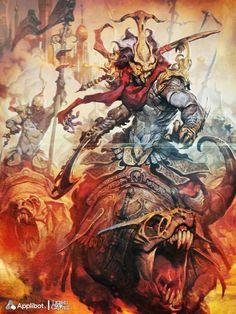 Reynan Sanchez ilustrações fantasia games Comandante Pharnaces