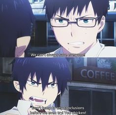 Showcasing the difference between these boys...*sigh* | Rin and Yukio | Ao no Exorcist