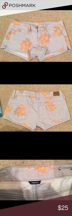 American Eagle Outfitters floral stretch shorts American Eagle Outfitters floral stretch shorts. Worn once or twice but in perfect condition American Eagle Outfitters Shorts Jean Shorts