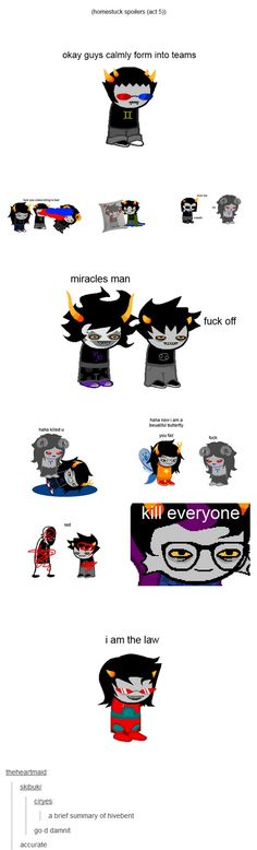 Accurate except Aradia meant to put Vriska in God Tier. That was the only way the trolls could defeat the black king.