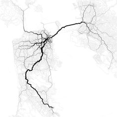Paths through the San Francisco Bay Area. Eric Fischer is data-mapping genius.
