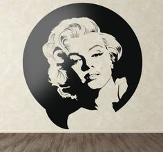 Portrait #sticker of one the most #sensual actresses in the #film industry. A special #decal for her fans! #MarilynMonroe was an American #actress, #model and #singer that became the sex symbol in the 50s. If you are a fan of #Monroe this is the right #walldecal for you! #tenstickers