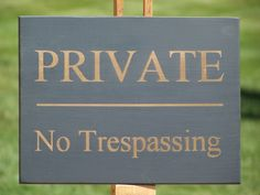 Decorative Private Property Signs Private Property No Trespassing Yard Sign Withsignmachine