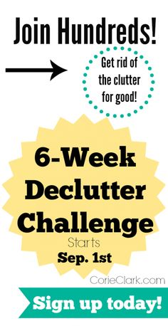 Join our Back to School Declutter Challenge! Get rid of that clutter once and for all! Corie walks you through simple steps to chip away at that clutter in just 15 minutes a day.