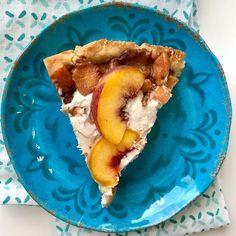 Peaches 'n Cream Pie {Vegan/Paleo} - Powered by @ultimaterecipe