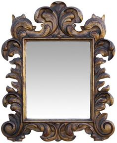 i have a picture frame just like this...a mirror would be lovely