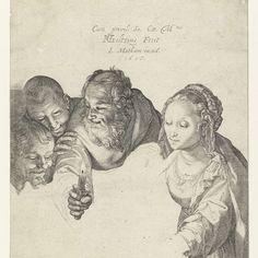 Aanbidding door de herders, Hendrick Goltzius, 1615 - Rijksmuseum