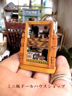Reloj de la casa de muñecas en miniatura completa ♪ atelier hecho a mano original de imagen | miniatura bambini Doll House Interior de la sala