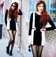 Sheinside Dress, 2hand Shoes, H Sunglasses