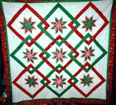 How about this quilt for Christmas?  Isn't is cheery?  You can make it at The Needle Arts Center.