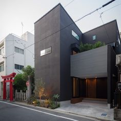 12 Marvelous Modern House Architecture Design Ideas ~ Home Decor Journal Box Architecture, Minimal Architecture, Japanese Architecture, Contemporary House Plans, Modern House Design, Facade Design, Exterior Design, Small House Exteriors, Narrow House