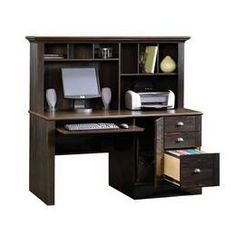 sauder office furniture collections | Sauder Harbor View Computer Desk with Hutch - Sauder Office Furniture