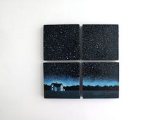 Small and Miniature Oil Paintings by Jessica Gardner Night Sky Oil Painting Small Canvas Paintings, Small Canvas Art, Mini Canvas Art, Mini Paintings, Simple Oil Painting, Easy Canvas Painting, Diy Painting, Painting & Drawing, Painting Videos
