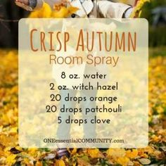 recipes for 20 fall room sprays-- made with essential oils for an easy… by Showard81