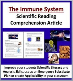 The Immune System - The Body's Defense - Science Reading Article - Teach Science With Fergy Science Topics, Science Lessons, Teaching Science, Creative Teaching, Science Activities, High School Biology, Middle School Science, Physical Adaptations, Immune System Diseases