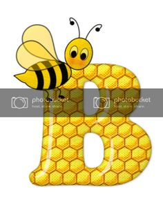 Alfabeto de abeja sobre letras de panal. - Oh my Alfabetos! Blogger Templates, Bee Decorations, Fictional Characters, Alphabet, Honeycomb, Bees, Lyrics, Art, Fantasy Characters