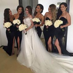 Range Rover Discover Simple Black Sweet Heart Side Split Sexy Mermaid Cheap Long Bridesmaid Dresses for Wedding Party Black Bridesmaids, Black Bridesmaid Dresses, Bridesmaid Hair, Wedding Dresses, Wedding Bridesmaids, Boho Chique, Budget Wedding, Wedding Venues, Destination Wedding