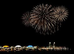 Chicago Navy Pier...fireworks, New Year's Eve!