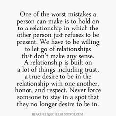 Heartfelt Quotes: A relationship is built on a lot of things