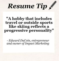 resume resume tip tuesday should you include hobbies