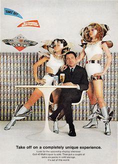 A Unique Experience - Colt 45 Malt Liquor Space Age Ad (Playboy 1969)