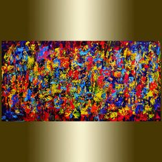 Original Abstract Painting  oil Painting on Canvas palette knife. Contemporary colors Painting Wall Art on Etsy, $265.00