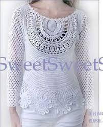 Resultado de imagen para blusas tejidas a crochet rusas con patrones